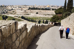 View of Jerusalem from Mount of Olives Royalty Free Stock Photos