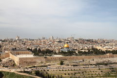 View of Jerusalem from the Mount Of Olives - Israel Stock Photos