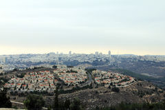 View of Jerusalem from Mount of Prophet Samuel Stock Photo
