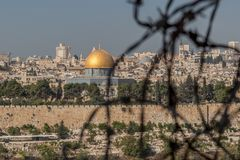 View of Jerusalem Old city , Israel stock photo