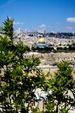 View on Jerusalem from Olive Mountain. View of Jerusalem from Olive Mountain, Israel Royalty Free Stock Photo