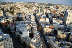 View of Jerusalem from roofs. View of Jerusalem city from the high rooftop. Jerusalem today Royalty Free Stock Image