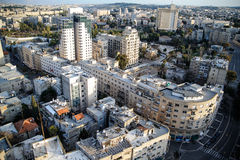 View of Jerusalem from roofs. View of Jerusalem city from the high rooftop Royalty Free Stock Photos