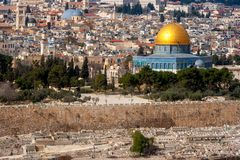 Jerusalem israel dome of the rock stock photography