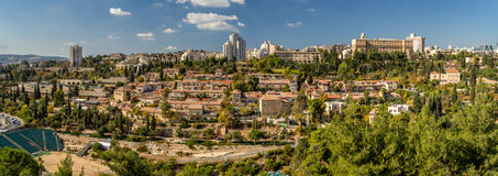 View of Jerusalem from the wall of the Old City, Israel Stock Photo