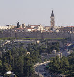 View of the Jerusalem walls,Israel Stock Image