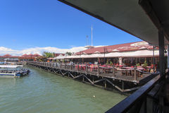 View of  Jesselton Point, Kota Kinabalu , Sabah, Malaysia. Jesselton Point is the water transportation hub to small island in Sabah and Labuan Stock Images