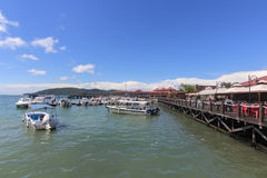 View of  Jesselton Point, Kota Kinabalu , Sabah, Malaysia. Jesselton Point is the water transportation hub to small island in Sabah and Labuan Stock Photography