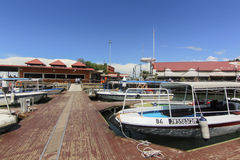 View of  Jesselton Point, Kota Kinabalu , Sabah, Malaysia. Jesselton Point is the water transportation hub to small island in Sabah and Labuan Royalty Free Stock Photo