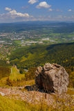 View from Jested mountain. Czech Republic countryside, view from Jested mountain, Liberec Royalty Free Stock Photo