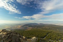 View from Jested mountain, Liberec, Czech republic Royalty Free Stock Photo