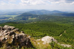 View from the Jested tower, the Czech Republic Stock Photos