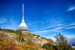 View on Jested tower ,Liberec, Czech Republic Royalty Free Stock Photo