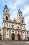 View at the Jesuit church in Innsbruck - Austria Royalty Free Stock Images