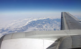 View from a jet plane Royalty Free Stock Image