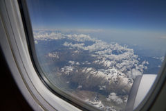 View from a jet plane Stock Image