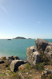 View of Jethou from Herm Royalty Free Stock Image
