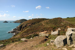 View of Jethou from Herm Stock Images