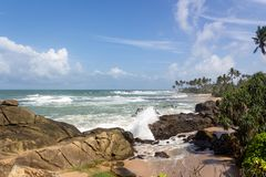 View of from the Jetwing Lighthouse Hotel in Galle royalty free stock image