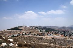 View of the Jewish settlement of Elon Moreh in Samaria Royalty Free Stock Photography