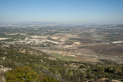View of the Jezreel Valley.Israel. Royalty Free Stock Photos