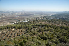 View of the Jezreel Valley.Israel. Stock Image