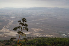 View of the Jezreel Valley in winter day from Mount Carmel, Israel Stock Image