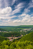 View of Jim Thorpe from Flagstaff Mountain, Pennsylvania. Royalty Free Stock Photo