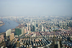 View from Jin Mao Tower in Shanghai Royalty Free Stock Image