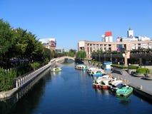 View of Jinan City. Hao River, China Royalty Free Stock Image