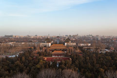 View from Jingshan Park in Beijing Royalty Free Stock Photos