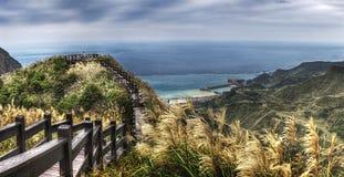 View from Jinguashi Jiufen Taiwan royalty free stock photo