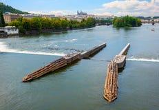 View from Jiraskuv bridge stock photo
