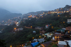 View of Jiufen town on hillside Royalty Free Stock Image