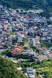 View of Jiufen town houses Royalty Free Stock Photo