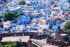 View of Jodhpur, the Blue City, from Mehrangarh Fort, Rajasthan, India Stock Image
