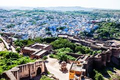 View of Jodhpur, the Blue City, from Mehrangarh Fort, Rajasthan, India Royalty Free Stock Photo