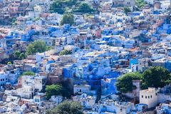 View of Jodhpur, the Blue City, from Mehrangarh Fort, Rajasthan, India Royalty Free Stock Photos