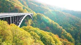 View of Jogakura Bridge in sunlight