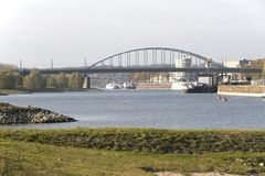 View of the John Frost Bridge in Arnhem Stock Photography