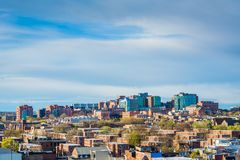 View of Johns Hopkins Hospital, in Baltimore, Maryland.  stock photo