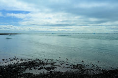 View from Jokulsarlon to Atlantic ocean, Iceland Stock Photos