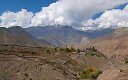 View from Jomson on valley, Nepal Royalty Free Stock Photos