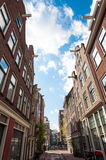 View of Jordaan district in Amsterdam-Centrum, the Netherlands. Royalty Free Stock Images