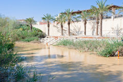 View on Jordan river in baptism site Stock Photo