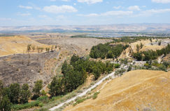 View of the Jordan Valley Stock Photo