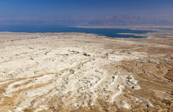 View of Judaean Desert and Dead See from Masada. Israel. Royalty Free Stock Images