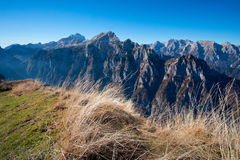 View of Julian alps from Debela pec. Mountain Royalty Free Stock Photo