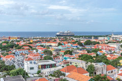 View from the Julianna bridge Curacao Views Royalty Free Stock Images
