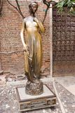 Juliet`s statue in Verona Stock Image